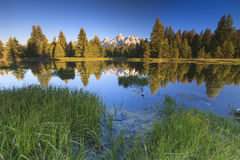 Grand Tetons Peaks Stock Images