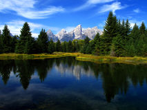 Grand Tetons Reflection Stock Photos