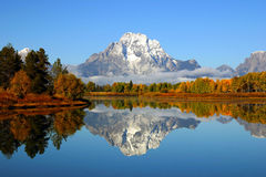 Grand Tetons Reflection stock images