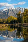 Grand Tetons Reflection Royalty Free Stock Images