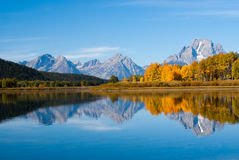 Grand tetons rippled reflections Royalty Free Stock Photography