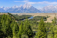 Grand Tetons and snake River, Wyoming Royalty Free Stock Photography