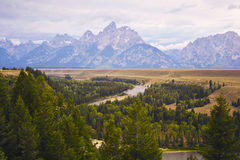 The Grand Tetons and Snake River, Wyoming Stock Photography