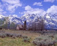 The Grand Tetons in the spring Stock Images
