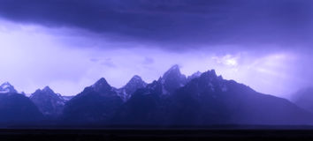 Grand Tetons in Storm Royalty Free Stock Image