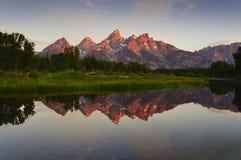 Grand Tetons at sunrise Stock Photo