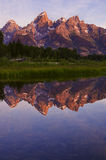 Grand Tetons at sunrise Stock Photography