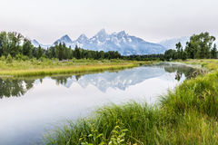 The Grand Tetons  at sunrise Royalty Free Stock Images