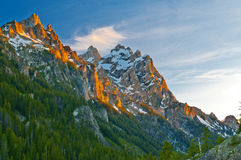 Grand Tetons at Sunset Stock Photos