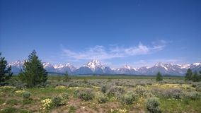 Grand Tetons. A view of the beautiful Grand Tetons in the Grand Teton National Park Royalty Free Stock Image