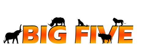 grand texte africain de cinq s Image libre de droits