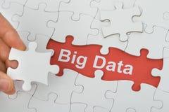 Grand texte de données sous le puzzle de scie de gabarit Image stock
