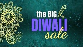 Grand texte de vente de Diwali sur le fond digitalement produit illustration libre de droits