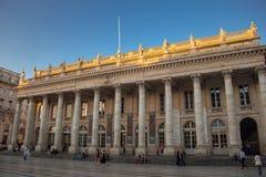 Grand Théâtre de Bordeaux, das großartige Theater-Opernhaus im Bordeaux lizenzfreies stockbild
