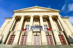 Grand théâtre, Poznan/théatre de l'opéra néoclassique image libre de droits
