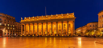 Grand Theater at Night,  Bordeaux Stock Image