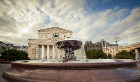 Grand Theatre. The Bolshoi Theatre (Great Theatre) in Moscow by Joseph Bove Royalty Free Stock Image