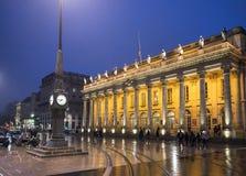 Grand Theatre de Bordeaux aquitaine france Photographie stock libre de droits