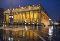 Grand Theatre de Bordeaux aquitaine francia imagen de archivo
