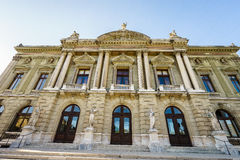 Grand Theatre de Geneve/Grand Theater of Geneva. Grand theatre de Geneve, Opera house situated in Place Nueve built in 1876 houses one of the largest stages in Stock Photography