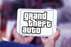 Grand Theft Auto, GTA, logotipo do jogo Imagens de Stock Royalty Free