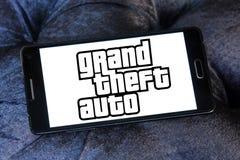 Grand Theft Auto, GTA, logotipo do jogo Imagens de Stock