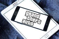 Grand Theft Auto, GTA, logotipo do jogo Fotografia de Stock