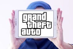 Grand Theft Auto, GTA, spelembleem Stock Foto