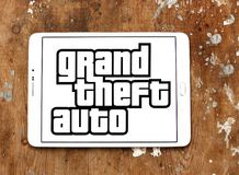 Grand Theft Auto, GTA, spelembleem Stock Fotografie