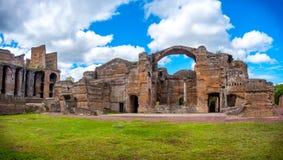 Grand Thermae or Grandi Terme area in Villa Adriana or Hadrians Villa archaeological site of UNESCO in Tivoli - Rome -. Lazio - Italy royalty free stock image