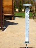 Grand thermomètre extérieur Image libre de droits
