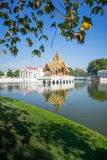Grand Throne Hall in middle of the pond at Bang Pa-In Palace, Th Stock Photos