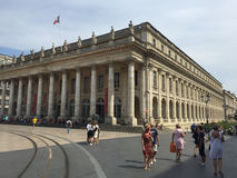 The Grand Théâtre de Bordeaux, 18th century theater architecture, Bordeaux, France Royalty Free Stock Image