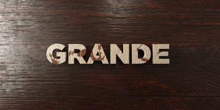 Grand - titre en bois sale sur l'érable - 3D a rendu l'image courante gratuite de redevance Photo stock