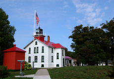 Grand Traverse Lighthouse horizontal Royalty Free Stock Photos