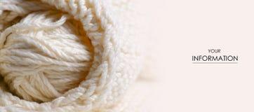 Grand tricotez le macro mod?le de tissu de textile blanc de texture images stock