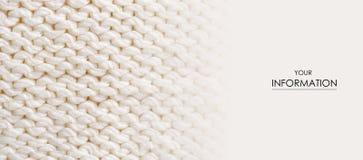 Grand tricotez le macro mod?le de tissu de textile blanc de texture photographie stock