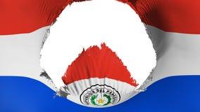 Grand trou dans le drapeau du Paraguay illustration libre de droits