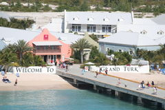 Grand Turk. Welcome to Grand Turk Island sign Royalty Free Stock Images