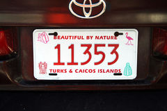 Grand turk licens plate Stock Photo