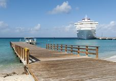 Grand Turk Piers Stock Photography