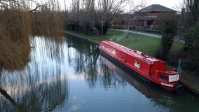 Grand Union Barge Boat, Giffard Park Royalty Free Stock Images
