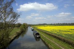 The Grand Union canal Royalty Free Stock Photos