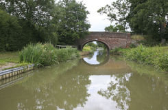 Grand Union canal, Leicestershire. One of the many bridges on the Grand Union canal, Leicestershire Royalty Free Stock Photo