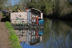 Grand Union Canal at Rickmansworth. Hertforddshire Royalty Free Stock Photos