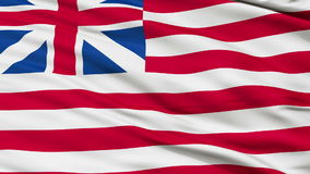 Grand Union USA Close Up Waving Flag. Grand Union United States of America Flag, Close Up Realistic 3D Animation, Seamless Loop - 10 Seconds Long stock footage