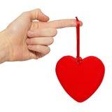 grand valentine de coeur Images libres de droits