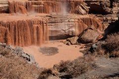 Grand valt Chocoladedalingen is ten noordoosten van Vlaggemast, Arizona stock foto