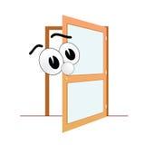 Grand vecteur d'art d'oeil et de porte ouverte Photographie stock