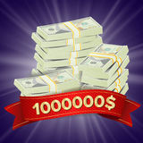 Grand vecteur de fond de gagnant Pièces d'or Lucky Jackpot Illustration Grande bannière de victoire Pour le casino en ligne, joua illustration stock